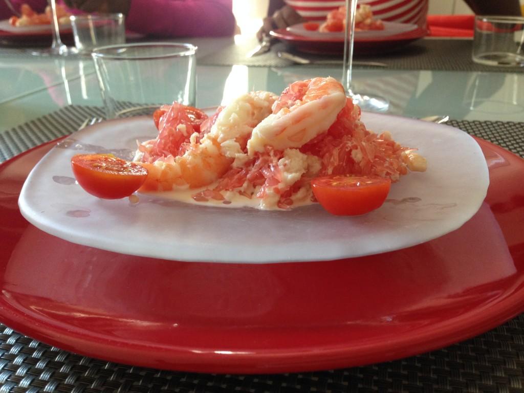 Crabe au pamplemousse