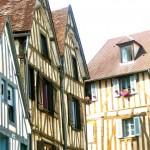 Maison à pans de bois à Auxerre en Bourgogne