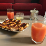Campari & toasts au chorizo